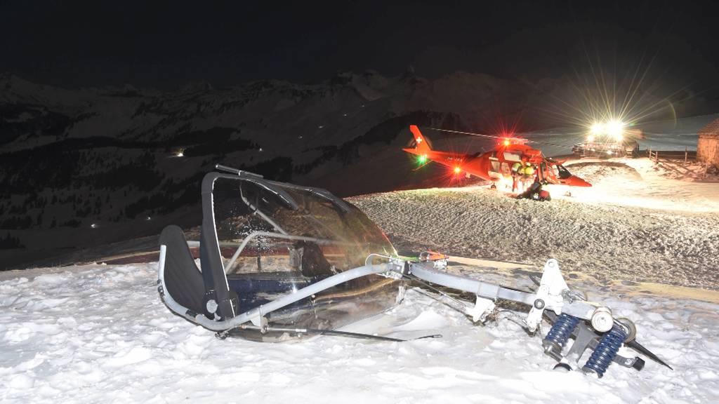 Vier Schwerverletzte nach Sessellift-Unfall auf dem Stoos