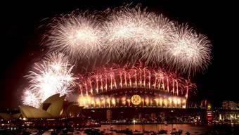 Das Neujahrsfeuerwerk in Sydney im Jahr 2008. (Archivbild)