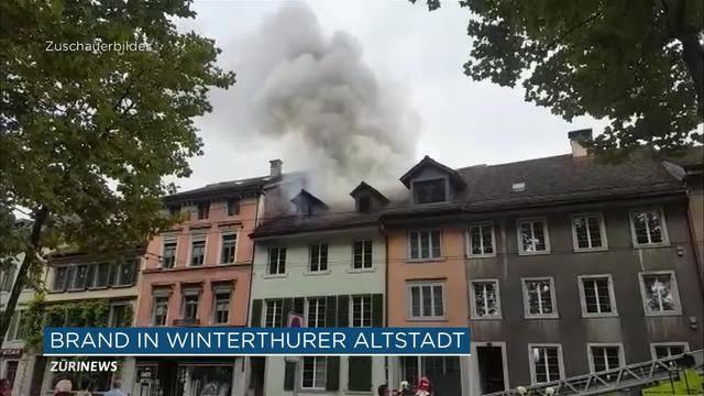 Zwei Menschen verletzt: Brand in Winterthurer Altstadt