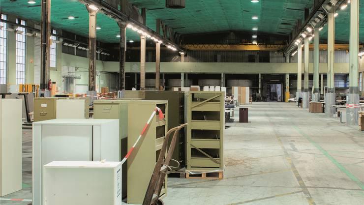 Die Hallen in der Papierfabrik stehen zurzeit teilweise leer.