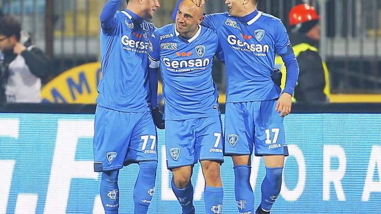 Massimo Maccarone lässt sich feiern