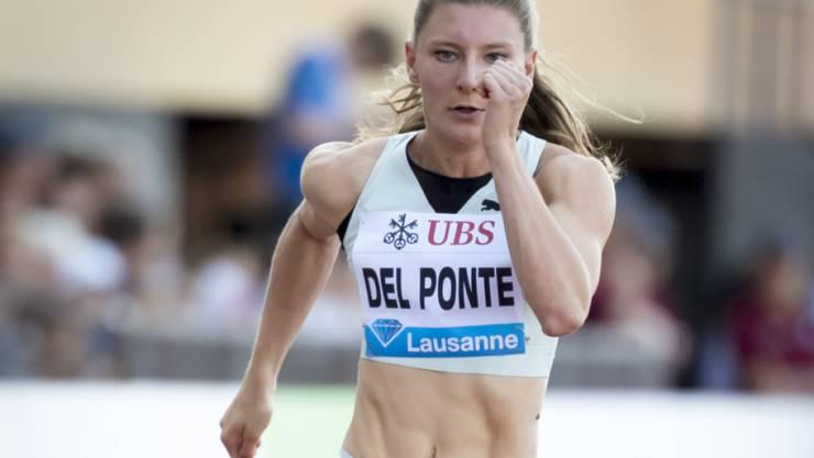 Ajla Del Ponte war am Freitag noch an der Athletissima in Lausanne im Einsatz.