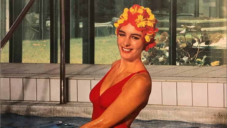Nackte Haut im Museum: Ein Plakat aus den 1970er-Jahren, das für das Badener Thermalbad warb.