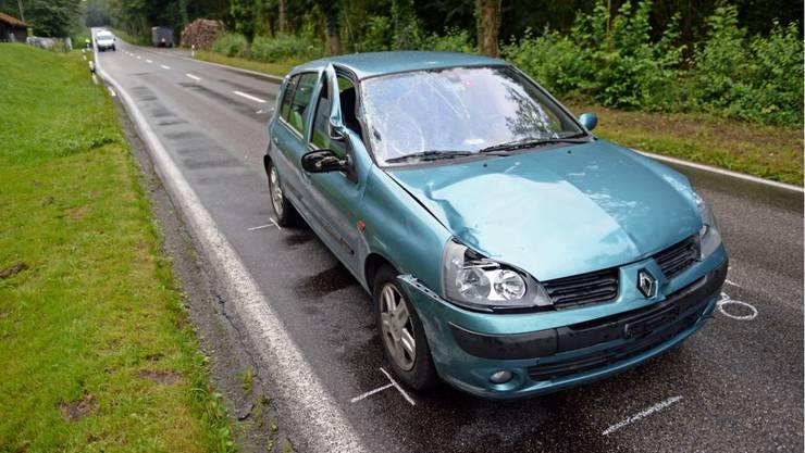 Dieser Renault Clio erfasste am 24. August 2014 einen Mann.