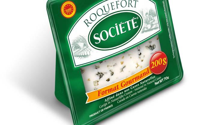 """Im französischen Rohmilchweichkäse Roquefort AOP der Marke """"SOCIÉTÉ"""" wurden Salmonellen nachgewiesen. (Archivbild)"""