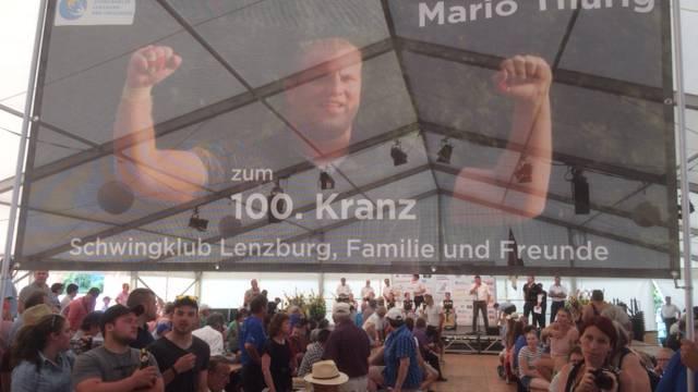Mario Thürig 100 Kränze Foto kü