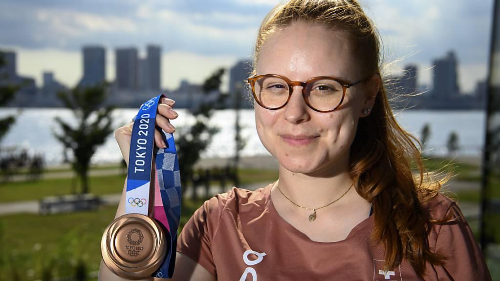 Silbermedaillengewinnerin Nina Christen war am Tag X bereit - auch dank der Zusammenarbeit mit Sportpsychologe Jörg Wetzel