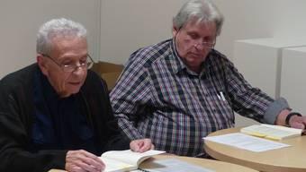 «Von Paukerdorf nach Dingsda»: Buchlesung mit Autor Heinz Picard (links) und seinem Bruder René Picard. ari