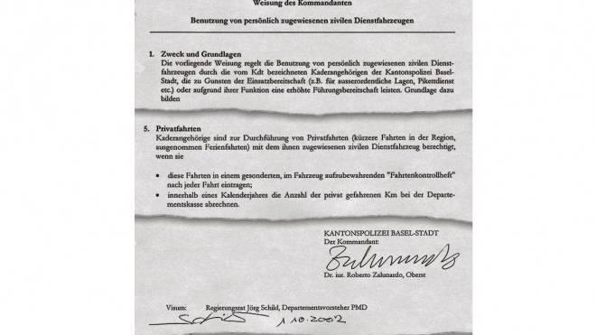 Auszüge aus der Weisung vom 1. Oktober 2002.