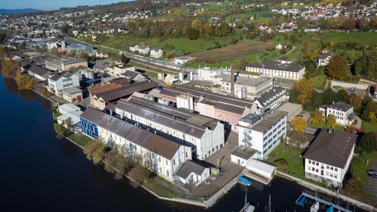 Gelände der alten Chemiefabrik in Uetikon am See. Darauf soll ein neues Quartier für bis zu 800 Einwohner entstehen.