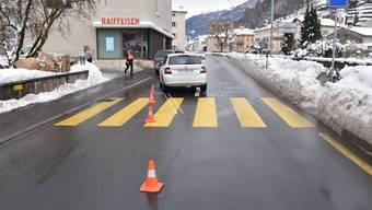 Auf der Hauptstrasse: Der Unfall ereignete sich auf einem Fussgängerstreifen in der Ortschaft Poschiavo.