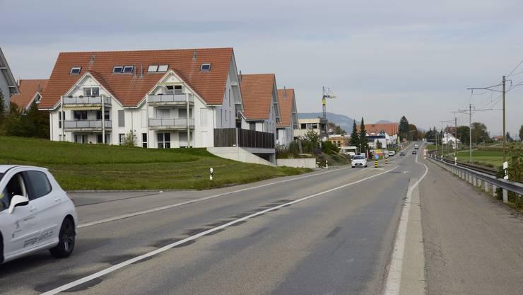 So sah die Strasse zwischen Lohn und Ammannsegg 2013 aus.