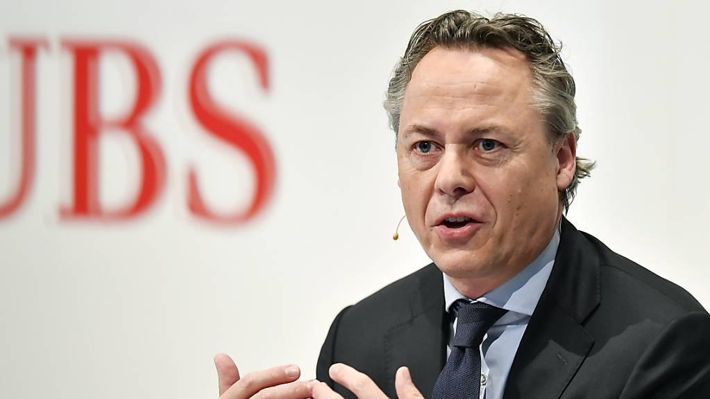 Die Exposition der UBS gegenüber dem kriselnden chinesischen Immobilienkonzern Evergrande ist laut CEO Ralph Hamers «unwesentlich». Die Grossbank musste aber einige Nachforderungen an Kunden mit besicherten Krediten stellen. (Archivbild)