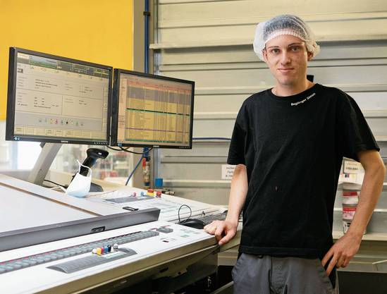 Der 23-jährige Simon Beglinger (Lenzburg) ist Drucktechnologe.