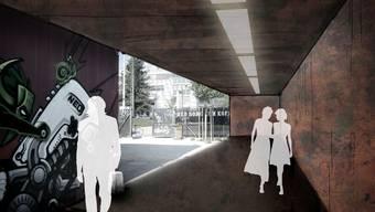So soll sich künftig der Eingangsbereich der Kulturfabrik präsentieren