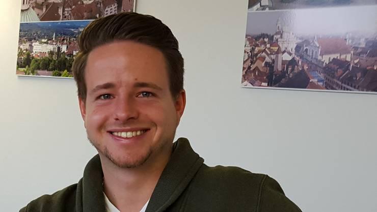 Philipp Eng aus Günsberg verteidigt die Volksinitiative der Jungfreisinnigen.