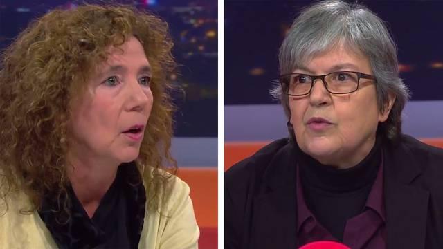 Sind sich ganz und gar nicht einig: Elisabeth Abbassi, Aargauischer Lehrerverband, und Elfy Roca, «Nein zum Lehrplan 21»
