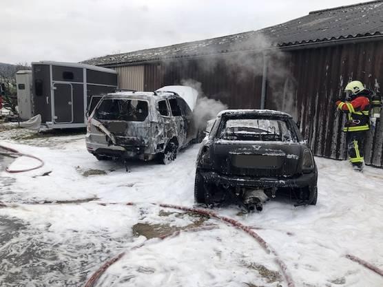 Ein Mini und ein Subaru wurden total beschädigt.