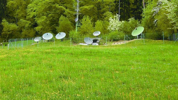 Leistungsfähig: Antennen wie die Parabolspiegel am Grenchner Panoramaweg sichern das Angebot der Gemeinschaftsantennen-Anlage.