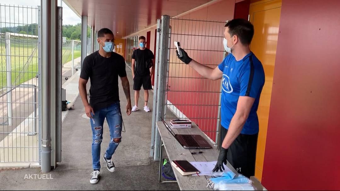FC Aarau nimmt Mannschafts-Training wieder auf