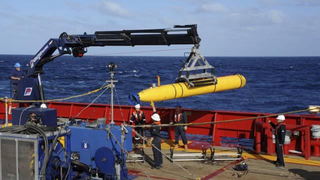 Das Mini-U-Boot Bluefin-21 bei einem Test Anfang April (Archiv)
