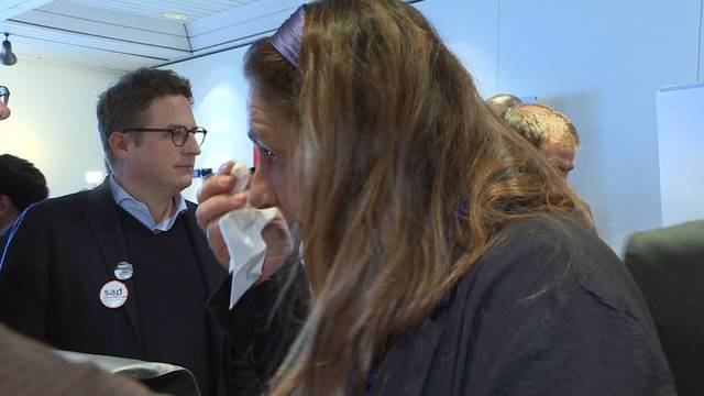 SP-Nationalrätin Jacqueline Badran weint vor Freude
