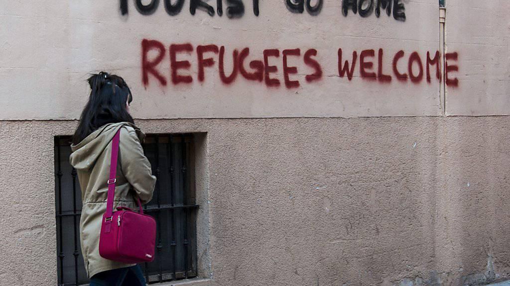 Den Einwohnern von Mallorcas Hauptstadt wird es allmählich zu viel: Graffiti in den Strassen von Palma (Aufnahme vom April 2016).