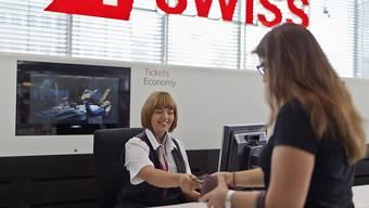 Obwohl die Swiss ihr Angebot mit mehr Flügen ausgeweitet hat, sank die Zahl der Passagiere im ersten Halbjahr. (Archiv)