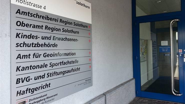 BVG- und Stiftungsaufsicht an der Rötistrasse 4 gegenüber dem Hauptbahnhof in Solothurn.
