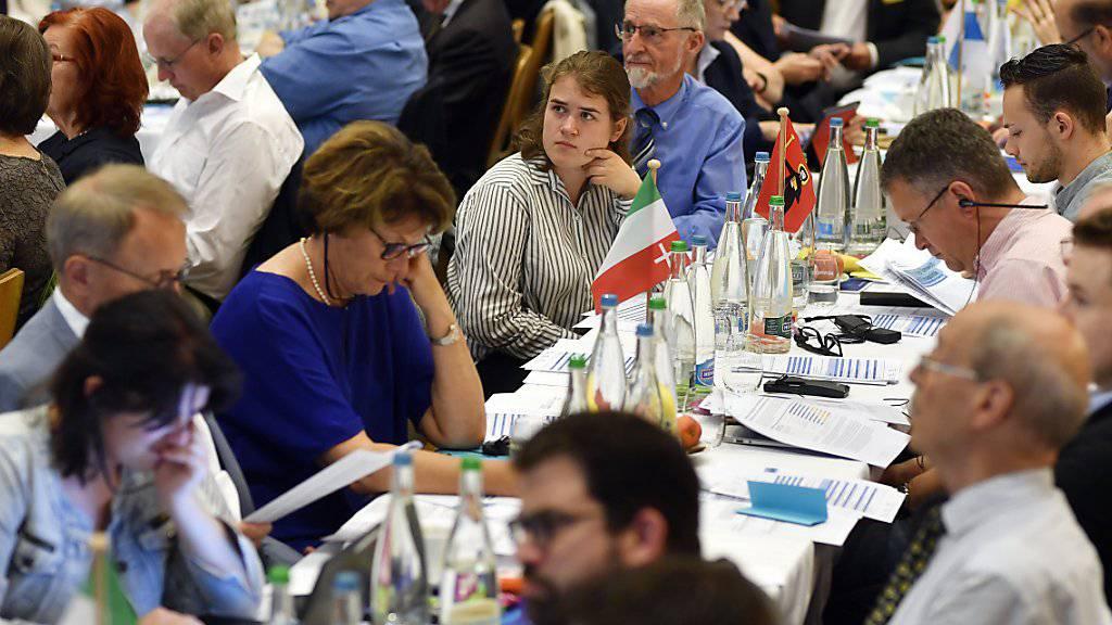 Die Delegierten der FDP-Schweiz debattieren über ihr Umwelt- und Klimapapier.