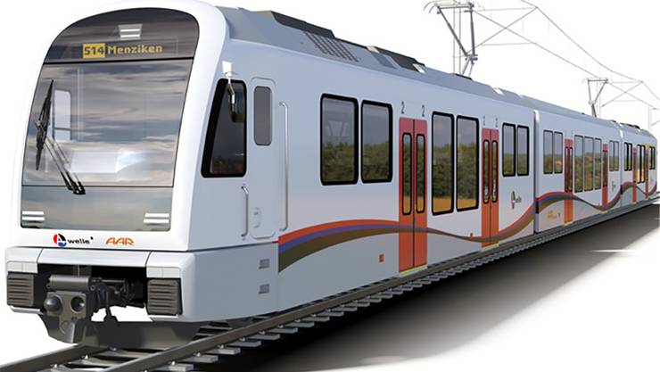 Der neue Zug, wie er bestellt wurde.