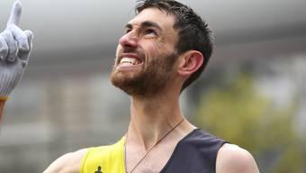 Der Genfer Julien Lyon freut sich über seine Leistung