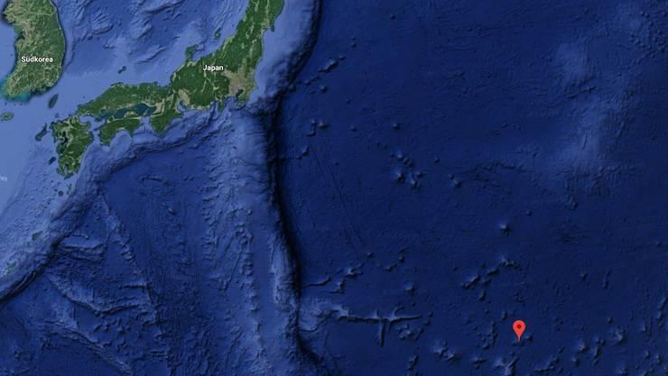Der kostbare Schlamm befindet sich nahe der kleinen japanischen Insel Minamitori, die 1848 Kilometer südöstlich von Tokio im Pazifik liegt.