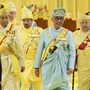 Malaysias neuer König Tengku Abdullah nach der Zeremonie zu seiner Amtseinführung.
