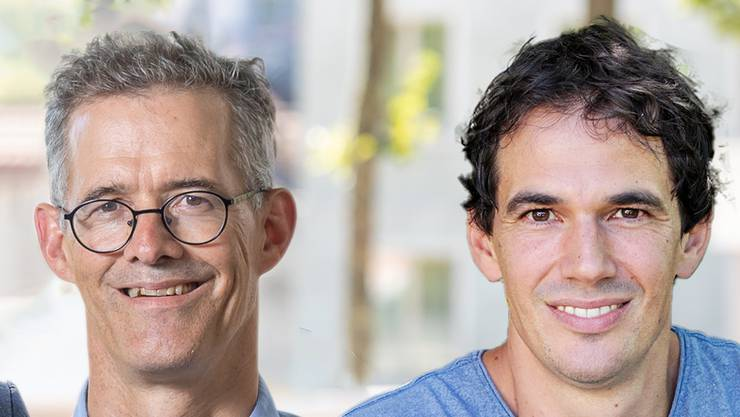 Die Badener Stadtrats-Kandidaten Stefan Jaecklin und Benjamin Steiner.