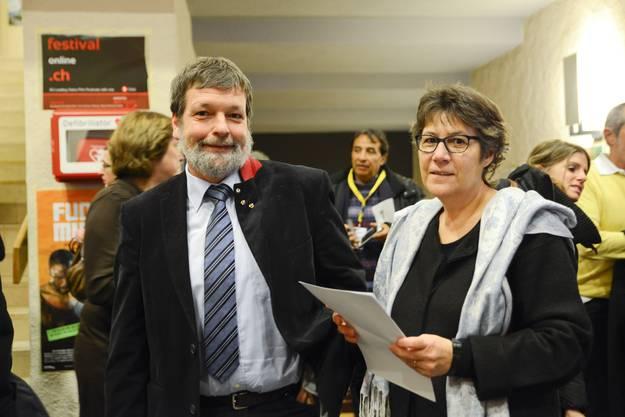 Landammann Roland Heim mit seiner Frau Jacqueline.