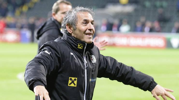 Marcel Koller in seiner ehemaligen Funktion als Trainer der Österreichischen Nationalmannschaft.