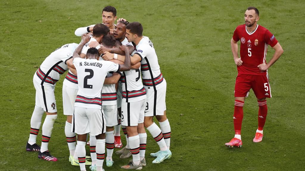Portugal gewinnt gegen Ungarn 3:0