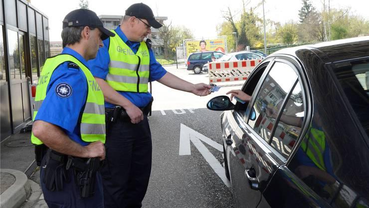 Heute können die Grenzwächter meist nur sehr punktuell kontrollieren.