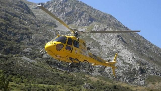 Ein Helikopter des spanischen Zivilschutzes