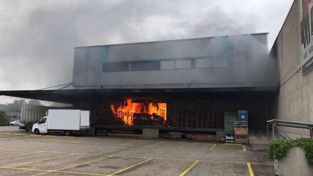 In Pratteln brannte es am Freitgag, 11. August