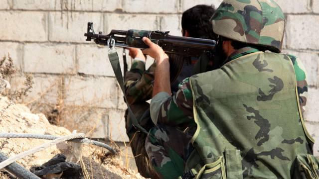 Syrische Soldaten: Die Waffen sollen schweigen (Symbolbild)