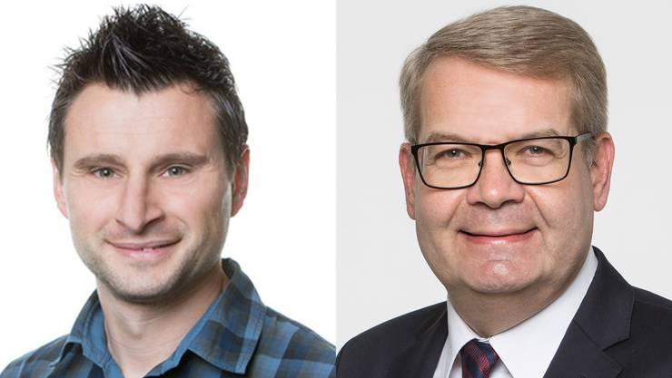 Verwaltungsleiter Remo Rossi und Finanzverwalter Matthias Bähler