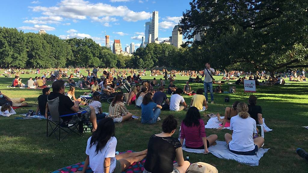 Kultur in New York trotz Corona-Krise: Park-Comedy und Truck-Konzerte