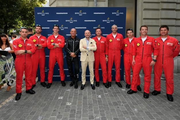 Auch die Piloten der Patrouille suisse waren zu Gast