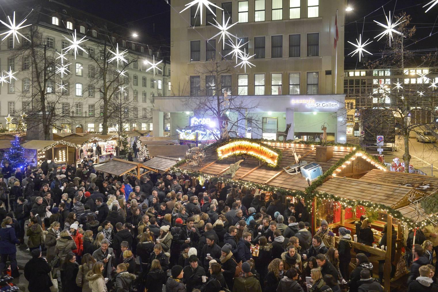 Der Weihnachtsmarkt in St.Gallen ist europaweit bekannt.