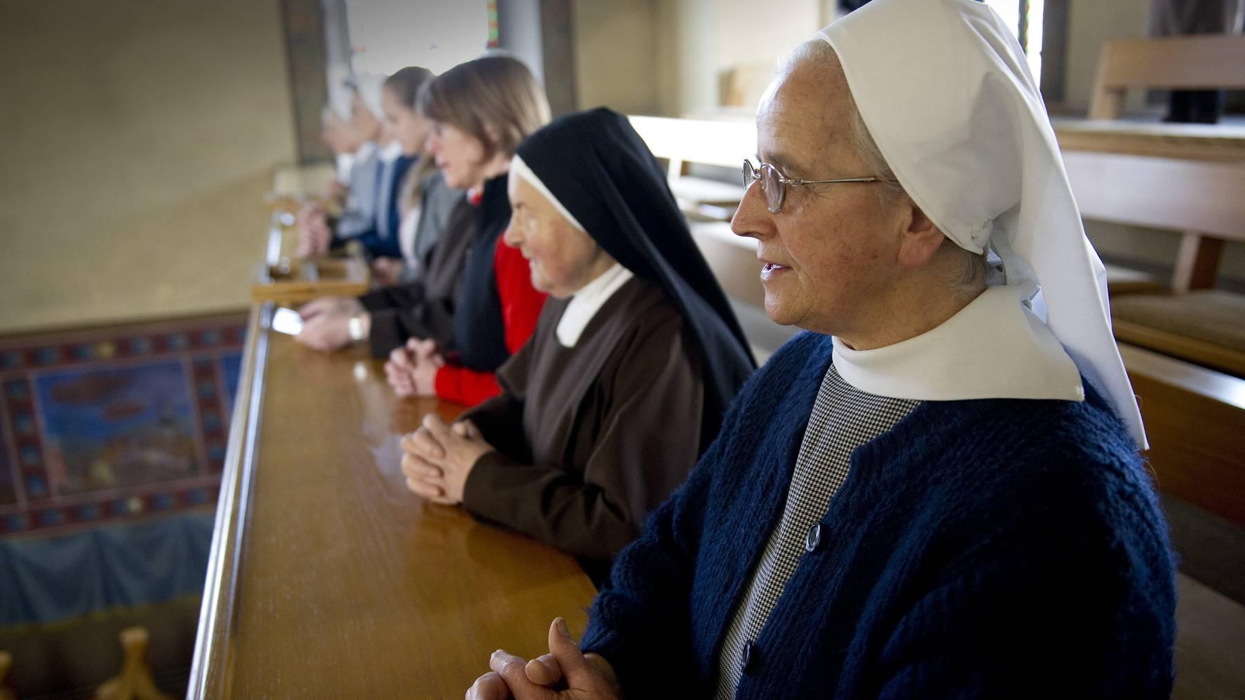 Die Schwestern im Kloster in Jakobsbad haben in der Fastenzeit mehr Zeit und Ruhe, unter anderem auch, um zu beten.