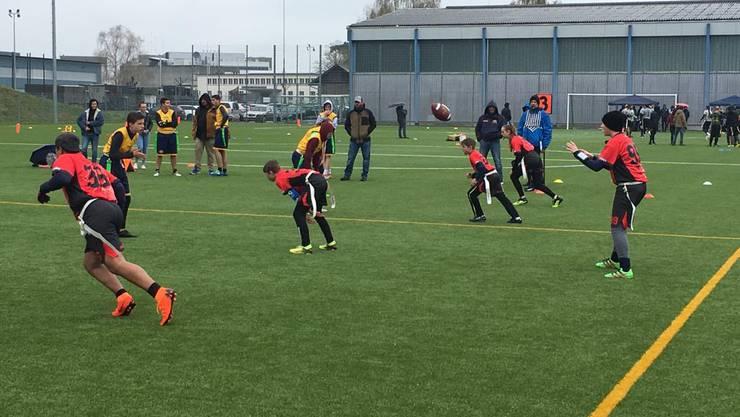 Die Argovia Pirates U13 und U16 Flag Football Teams hatten mit vielen Absenzen zu kämpfen (Bild: Argovia Pirates)
