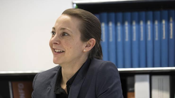 Die neue Kripo-Chefin Fabienne Holland bei der Präsentation der Zahlen. Sowohl Ermittlungstätigkeit wie Prävention im Bereich Cyberkriminalität sollen intensiviert werden.