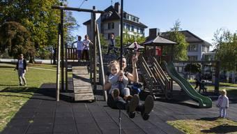 Einer von 27 Spielplätzen in der Stadt Solothurn: der Spielplatz auf der Chantierwiese